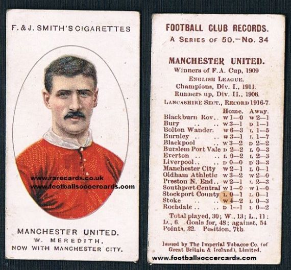 1917 Smith's Football Club Records Meredith